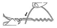 Рыболовный простой узел и плетёнка